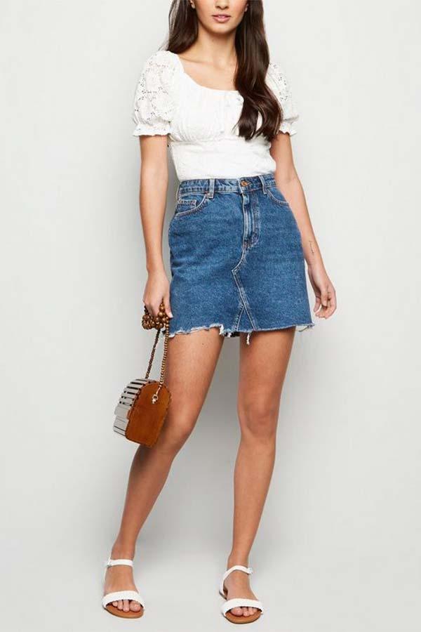 Denim Skirt - Model Fashion Wanita Terbaru 2020