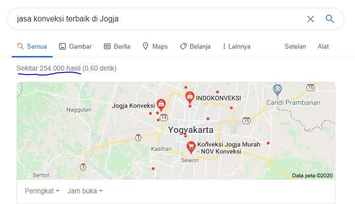 Google result query for Jasa konveksi terbaik di jogja
