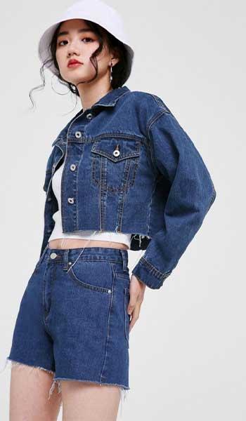 Jaket Denim Cropped