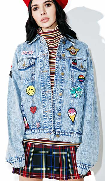 Jaket Jeans Patches