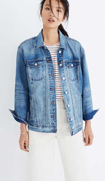 Oversized Style Jaket Jeans