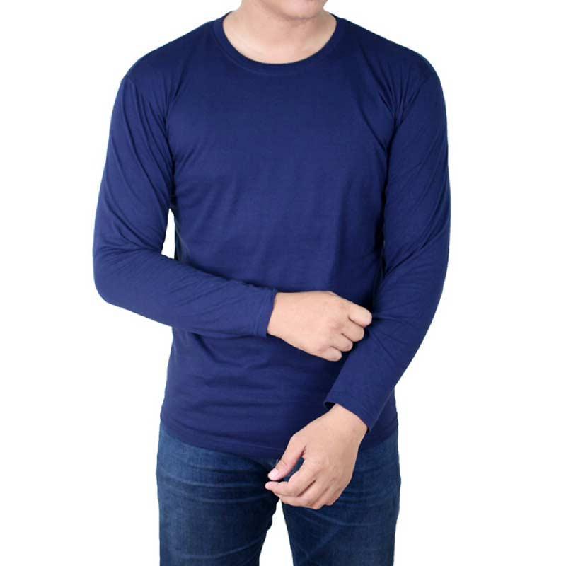 Contoh Desain Kaos Polos Depan Belakang Biru Dongker
