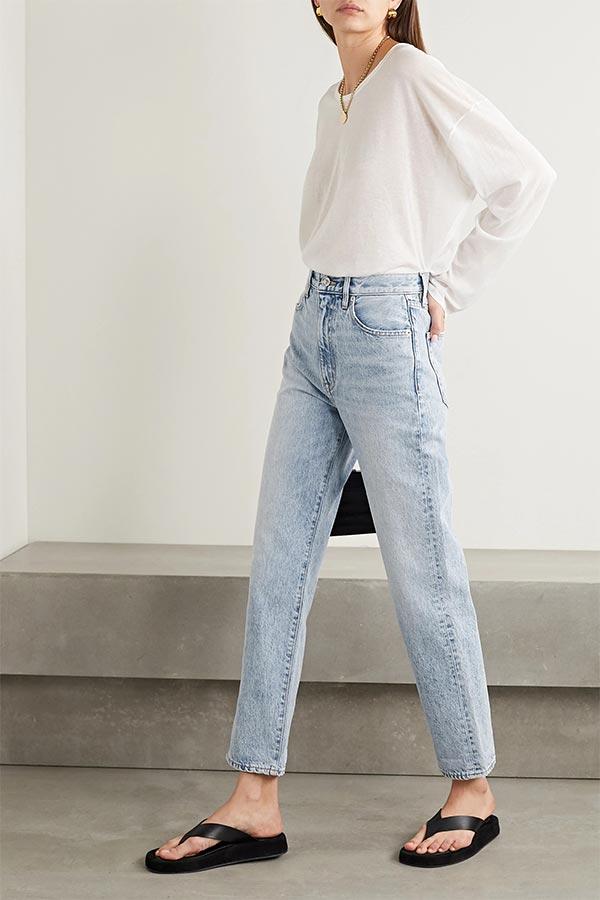 Straight Leg Jeans by SLVRLAKE