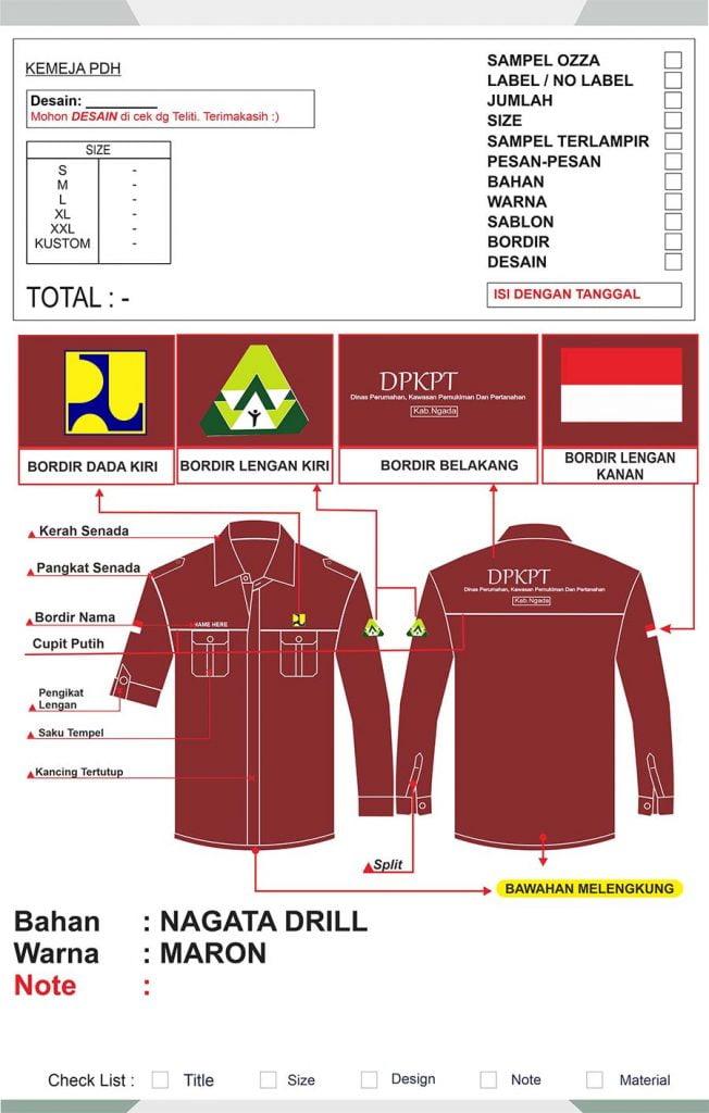 Desain Baju PDH Keren - Ozza Konveksi