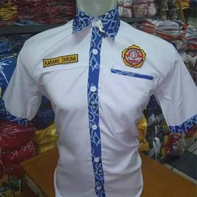 seragam karang taruna kombinasi batik