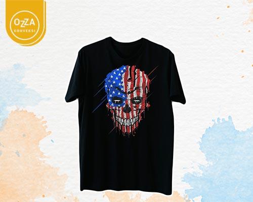 Kaos Sablon Desain Tengkorak - Ozza Konveksi