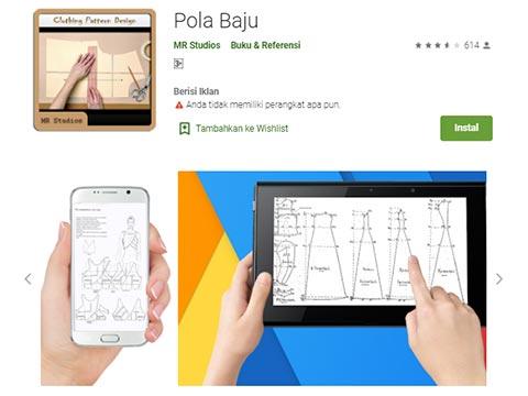 Aplikasi Android - Pola Baju