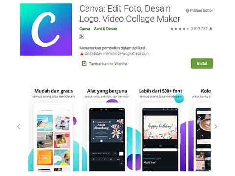 Aplikasi Desain Baju - Canva