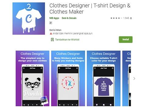 Aplikasi Desain Baju - Clothes Designer