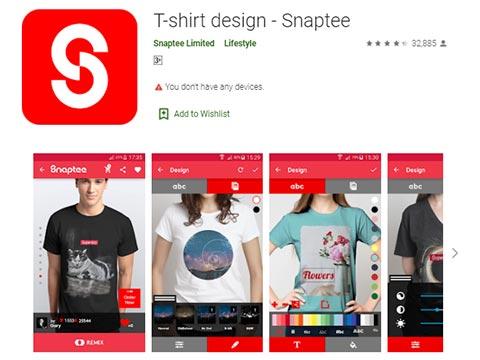Aplikasi Desain Baju - Snaptee