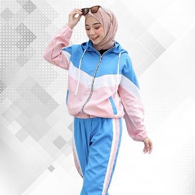 Baju Training Wanita Berjilbab
