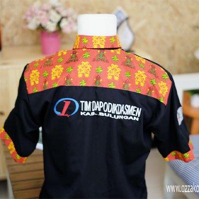 kemeja seragam kantor kombinasi batik