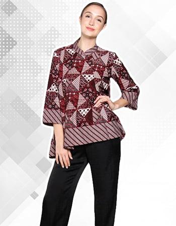 Model Baju Batik Motif Tambal