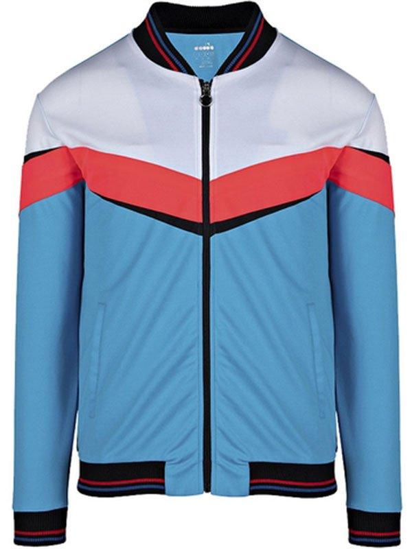 Jaket Diadora warna biru dan putih