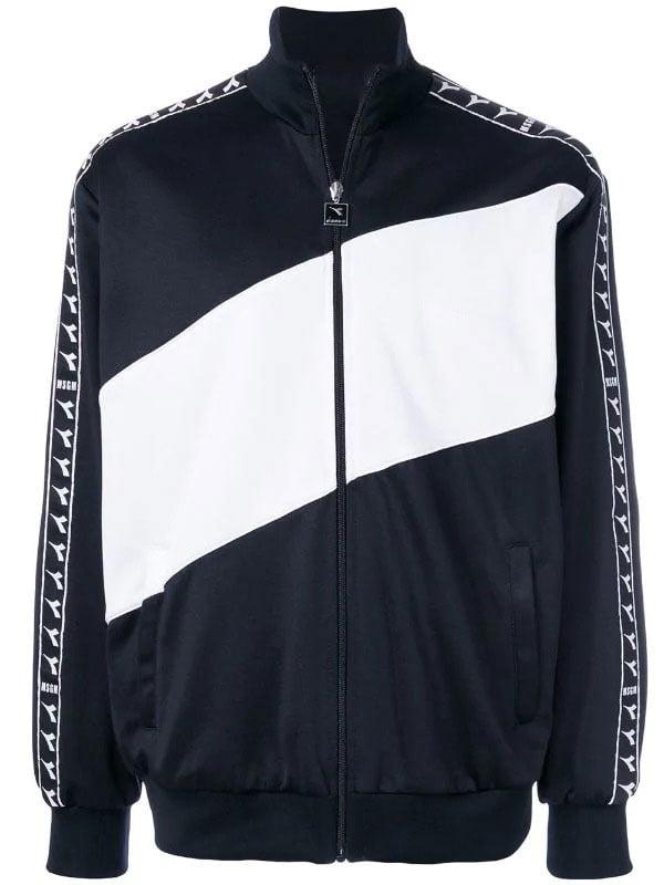 Jaket-Diadora-warna-hitam-dan-putih
