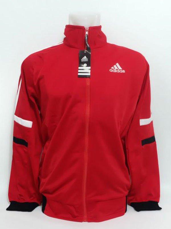 Jaket Diadora warna merah merek adidas