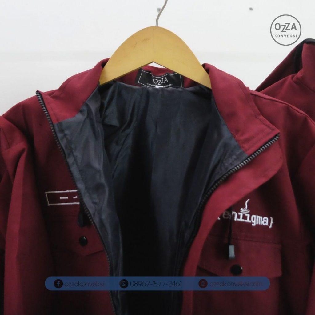 Jaket Fleece Mahasiswa Merah Marron