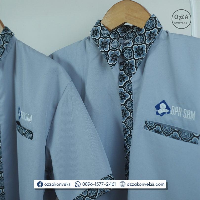 Kemeja Seragam Wanita Kombinasi Batik