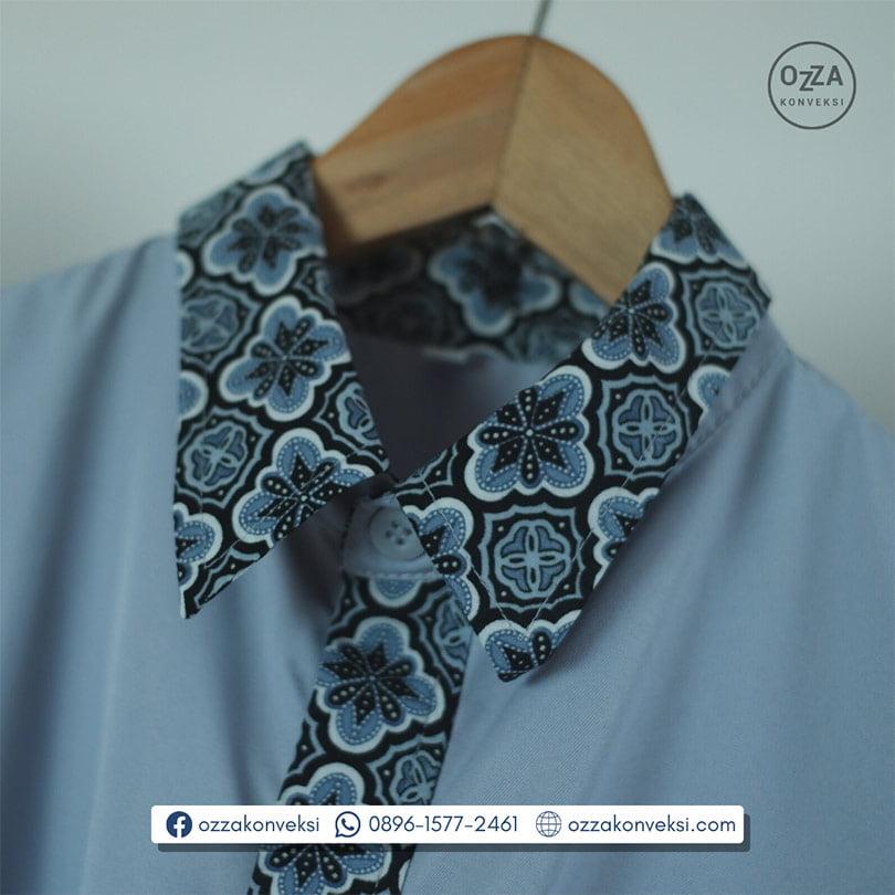 Seragam Kemeja Kombinasi Batik