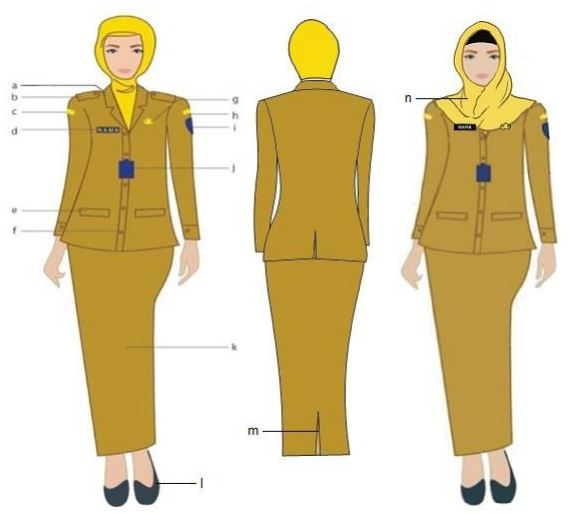Gambar PDH Wanita Berjilbab