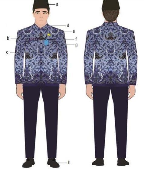 Pakaian Seragam Batik KORPRI Pria