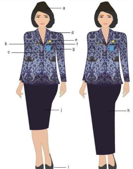 Pakaian Seragam Batik KORPRI Wanita