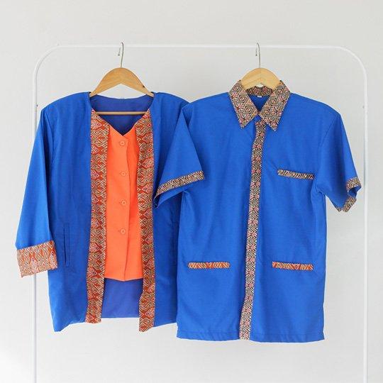 Konveksi Baju Seragam Batik Kombinasi